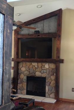 Reclaimed Wood Barn Beam Mantle