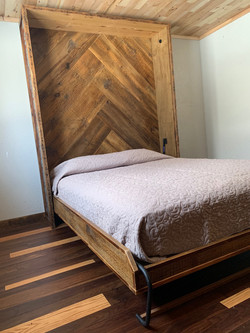 Reclaimed Wood Murphy Bed