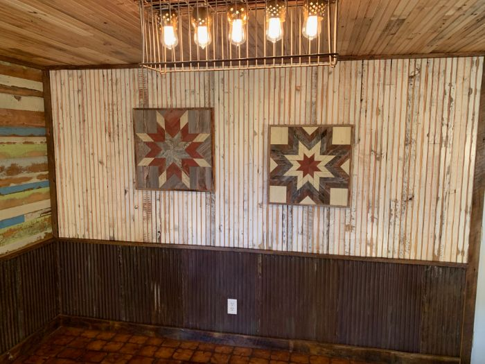 White Vintage Bead Board Accent Wall