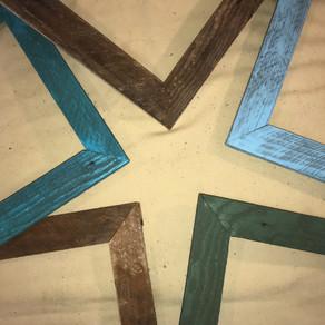 Repurposed Lath Picture Frames