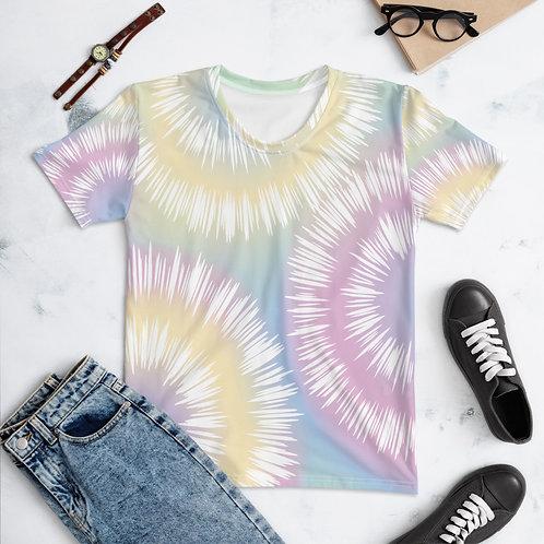 Cute Colorful Women's Tie Dye T-shirt