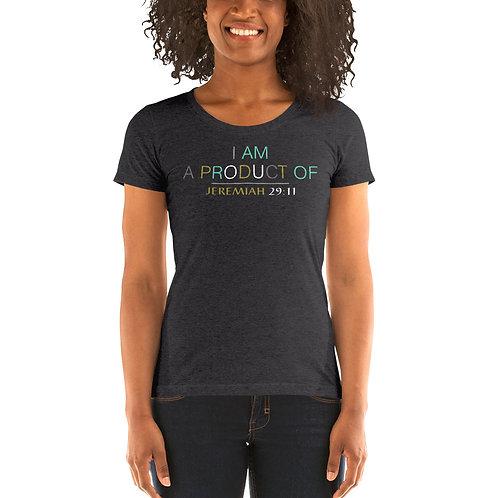 Ladies' I Am Product Of Matthew 6:33 Short-Sleeve T-Shirt