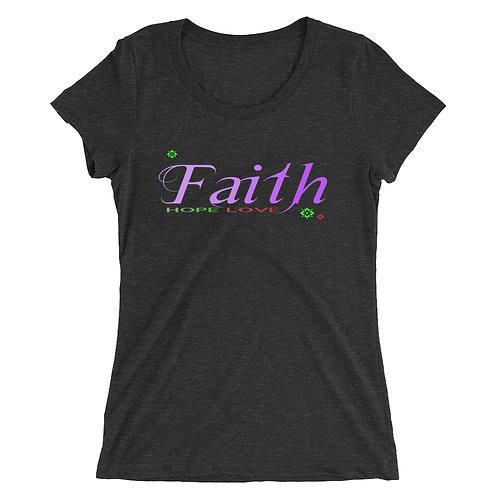 Ladies' Faith Hope Love short sleeve t-shirt