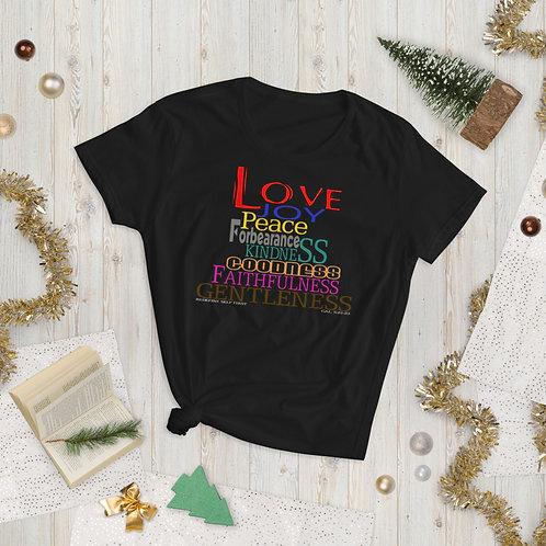 Fruits Of The Spirit  Cute Love Gal. 5 :22-23 Women's Short Sleeve T-Shirt