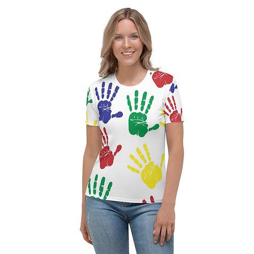 Super Mom Colorful Hands Women's T-shirt