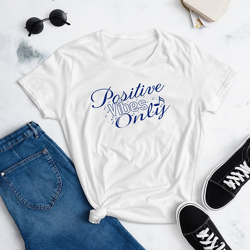 Lady's Positive Vibes Only Cool Women's short sleeve t-shirt