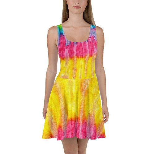Women's Colorful Tie Dye Skater Dress