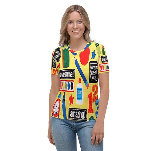 Cute School Graphic Teacher Student Women's T-shirt