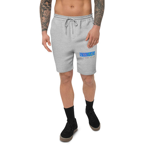 Men's S.W.A.G. Saved With A Gift Christian Matching Set fleece shorts