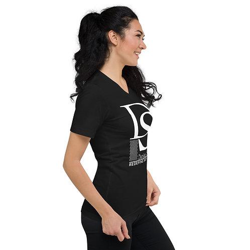 DS | Darius Stokes | Redefine Self First | Logo | V-Neck T-Shirt