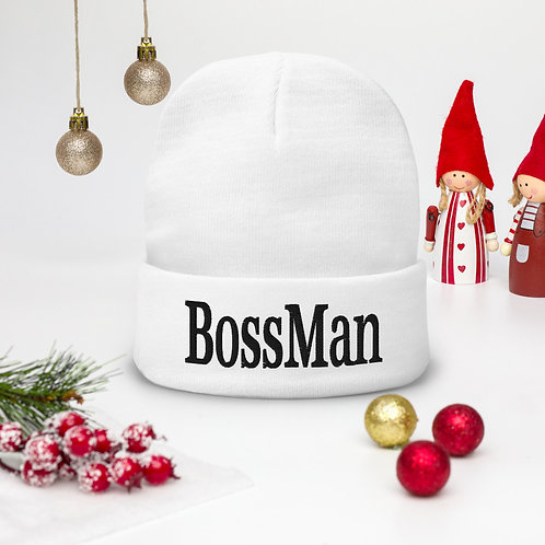 BossMan Hat Boss Man Embroidered Fit Beanie