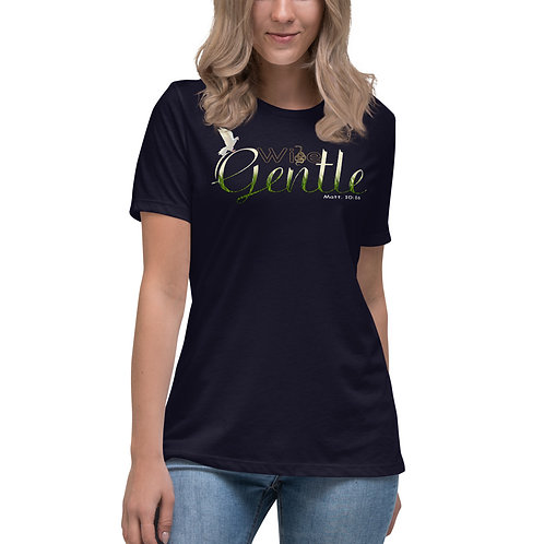 Women's Be Wise As A Serpent But Yet Gentle As A Dove Christian Relaxed T-Shirt