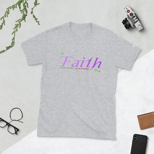 Faith Hope Love Short-Sleeve Unisex T-Shirt
