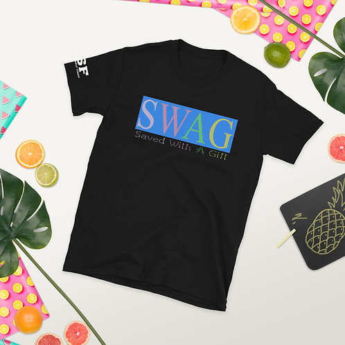 SWAG Christian Style Tee Saved With A Gift Fun Short-Sleeve T-Shirt