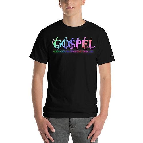 Men The Gospel Grace Over Sin Provided Eternal Life Short Sleeve T-Shirt