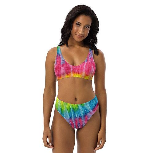 Women's Tie Dye Summer Cute Recycled high-waisted bikini