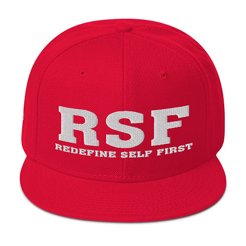 RSF | Redefine Self First | Black, Red, White, Green Snapback Hat
