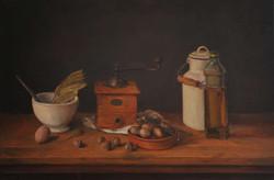 Moulin et huile