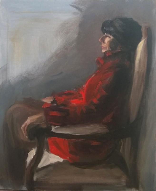 Isabelle en rouge