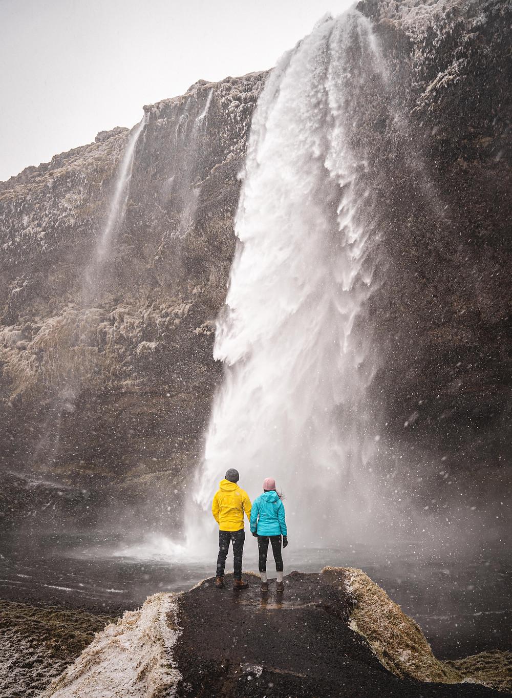 Kvernufoss Waterfall Wedding Photo