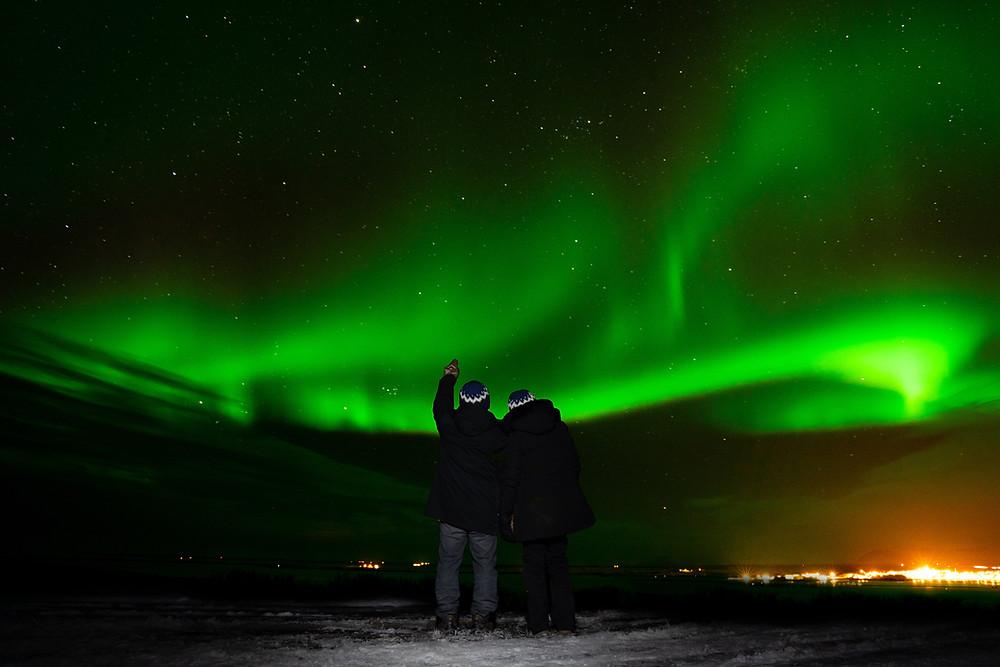 Iceland Aurora Wedding Photo