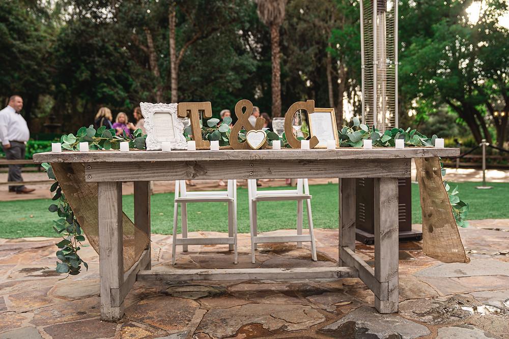 Temecula Wedding Decor at Lake Oak Meadows