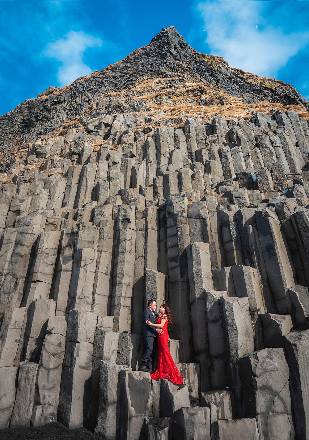 Reynisdrangar Wedding Engagement Photo
