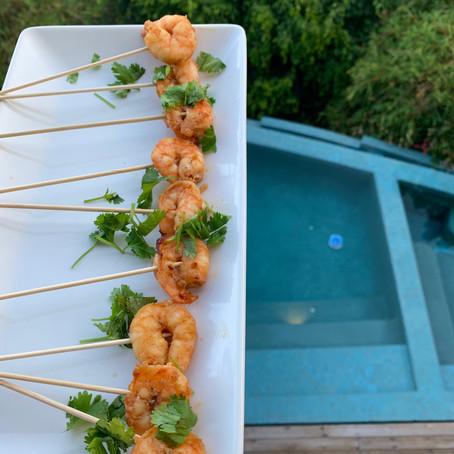 Chili-Lime Shrimp Lollipops