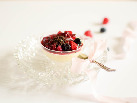 Lemon and Mixed Berry Panna Cotta