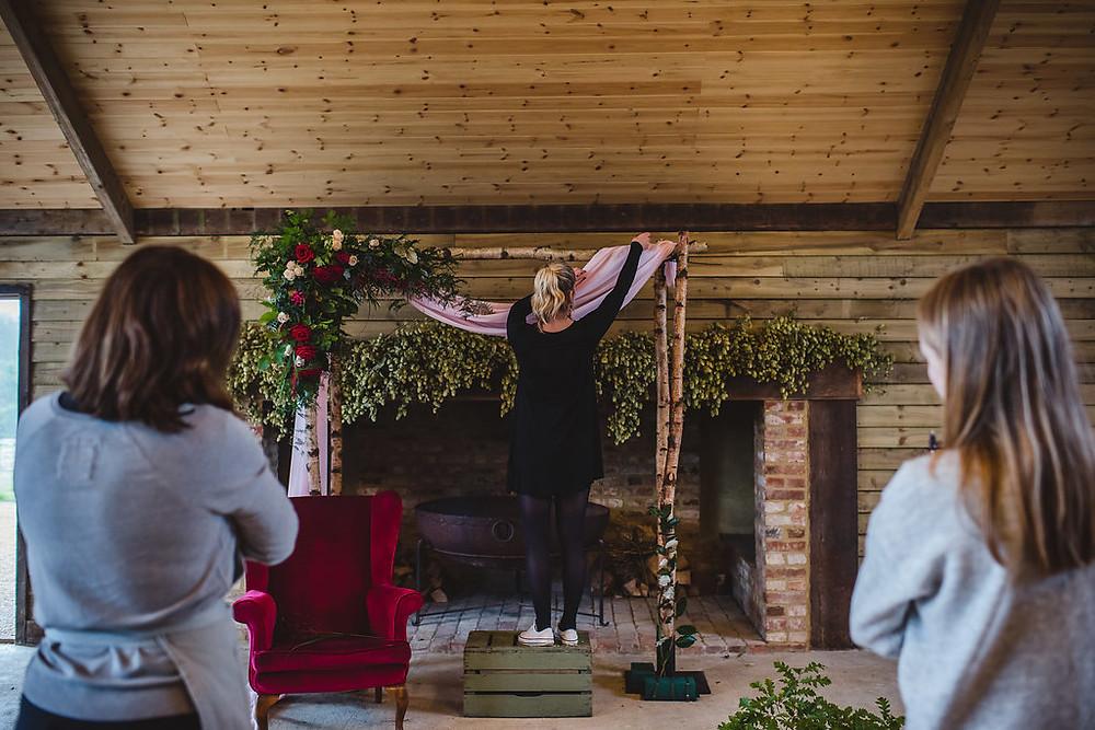 wedding planner, wedding stylist, bluebird creative, billinghurst barn