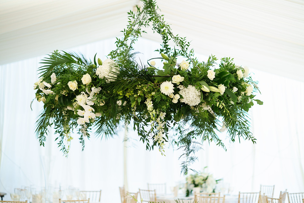 Floral Installation | Surrey Wedding | Marquee Wedding