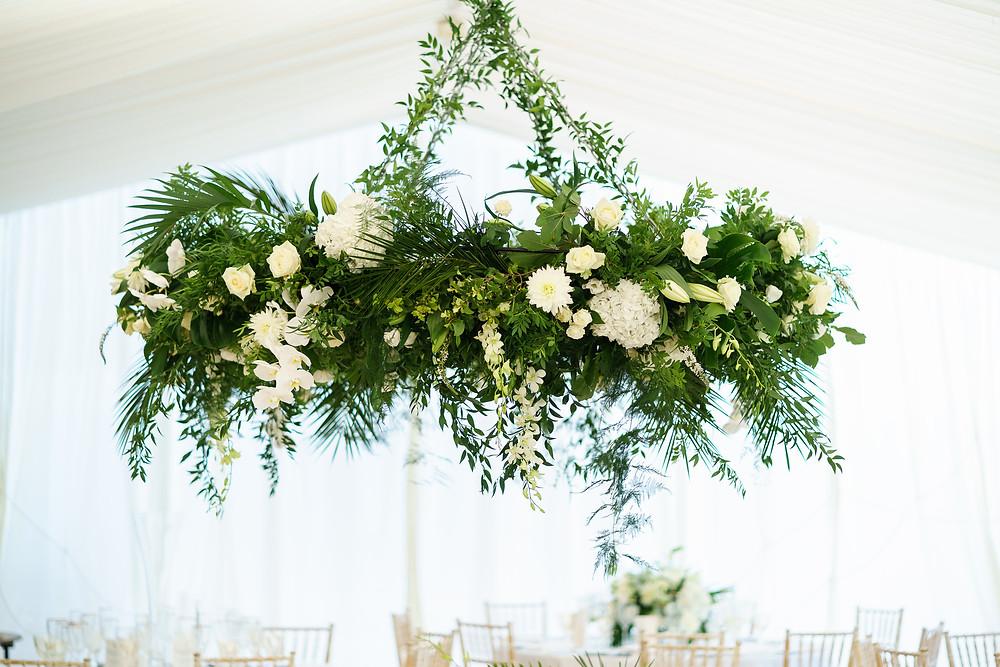 Floral Installation | Surrey Wedding | Marquee Wedding