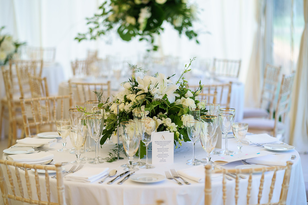 Wedding Table Arrangements | Surrey Wedding Flowers