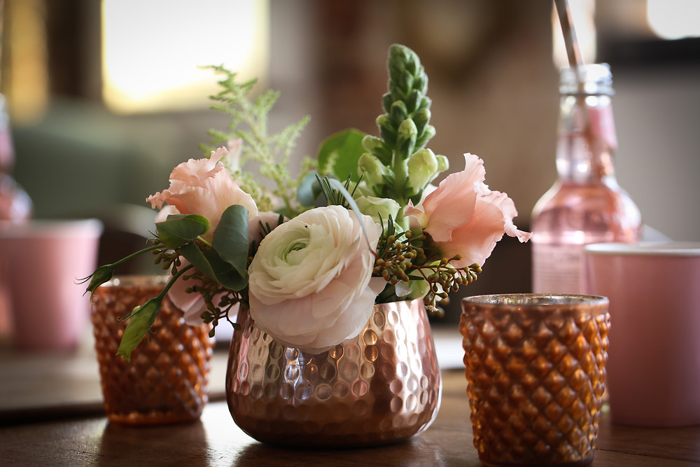Copper and Pink Flowers