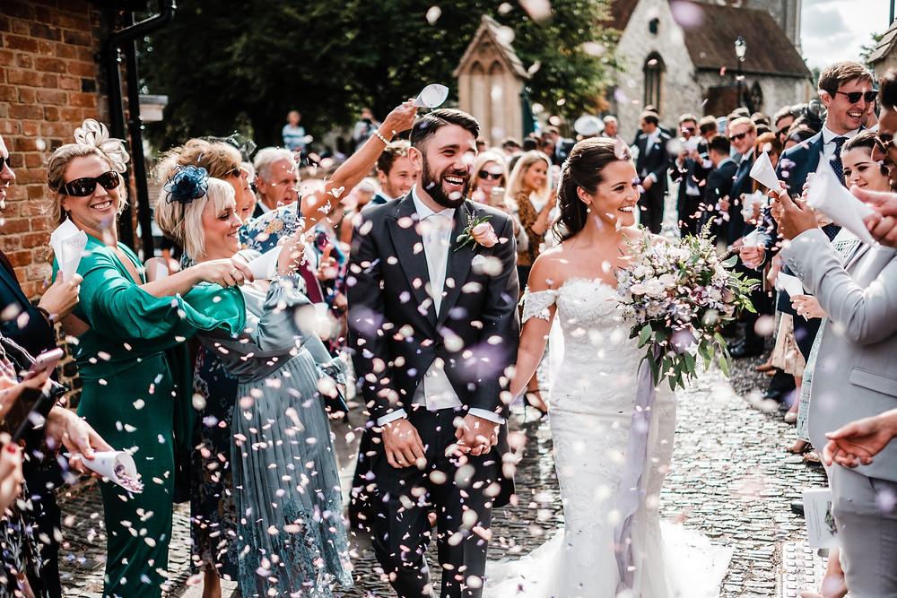 Confetti Shot | Surrey Castle Wedding