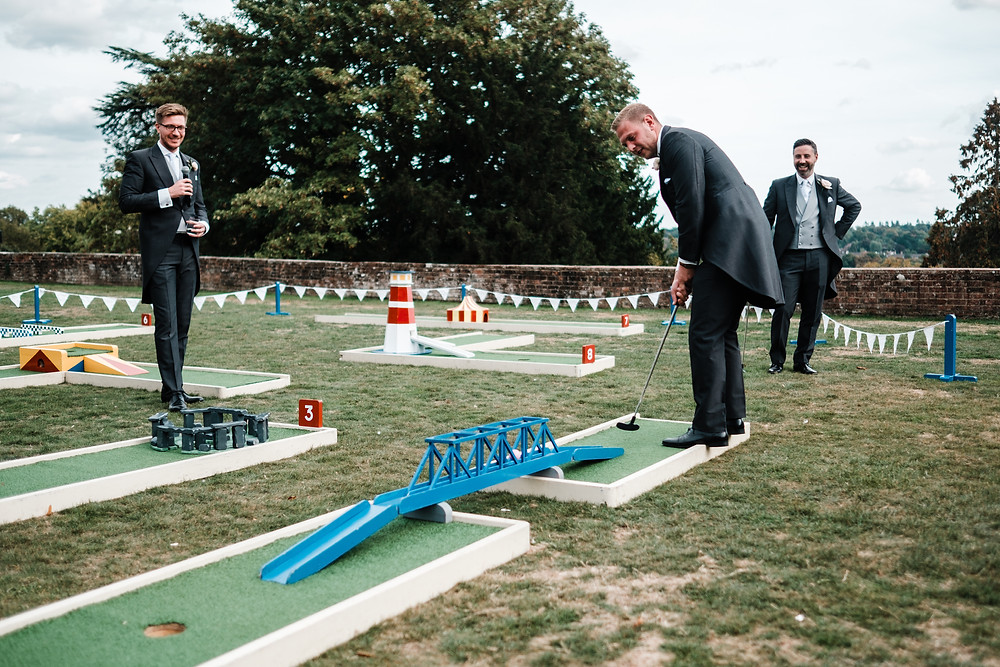 Drinks Reception Ideas | Uk Wedding | Mini Golf