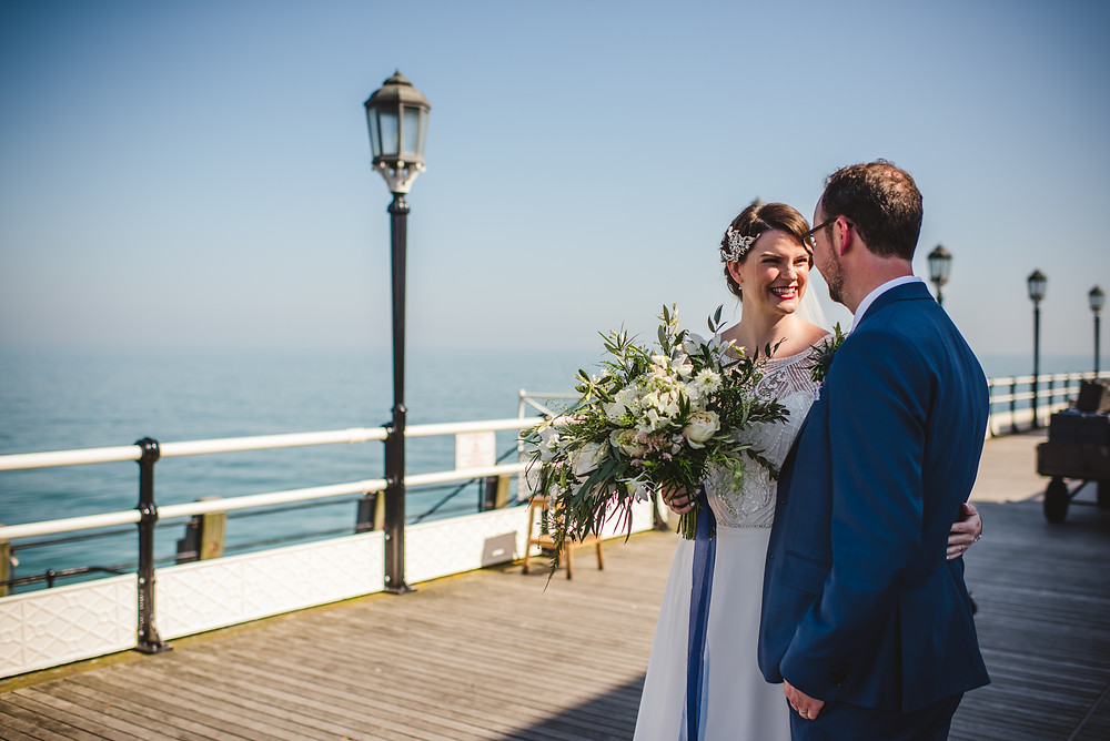 hot wedding weather | UK Wedding | seaside Wedding