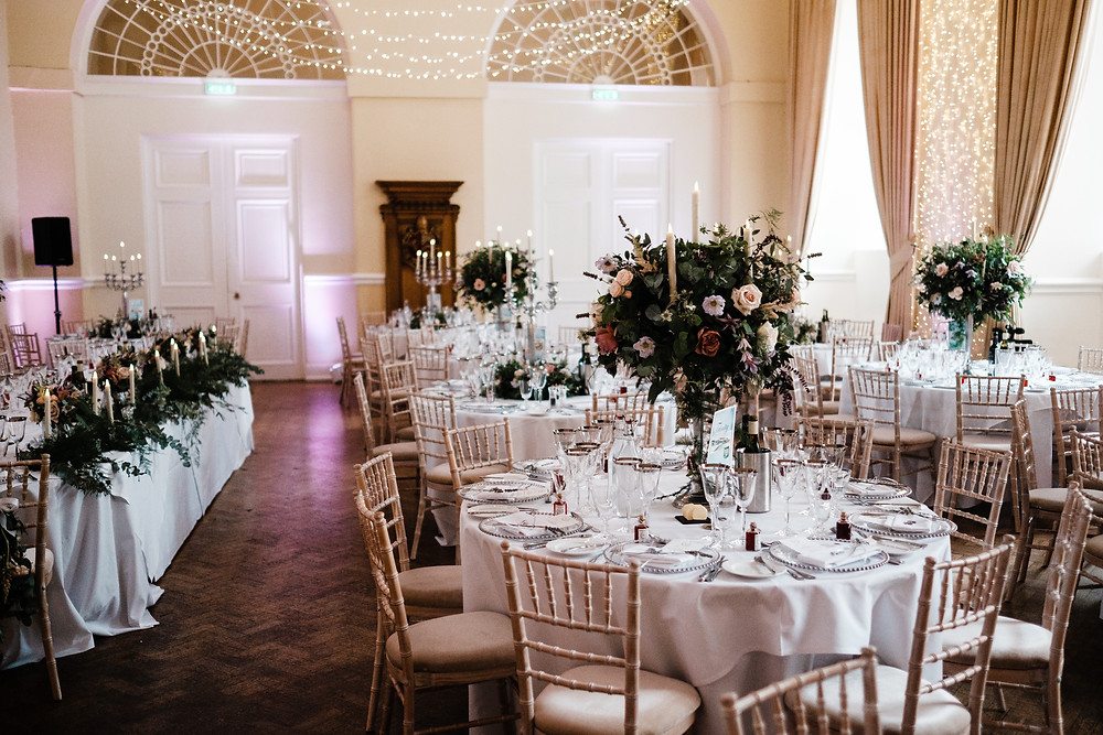 Wedding breakfast Floral design | Hampshire Wedding | Uk wedding planning