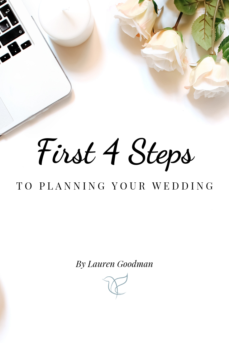 first steps to wedding planning, first steps to plan your wedding, where to start with wedding planning