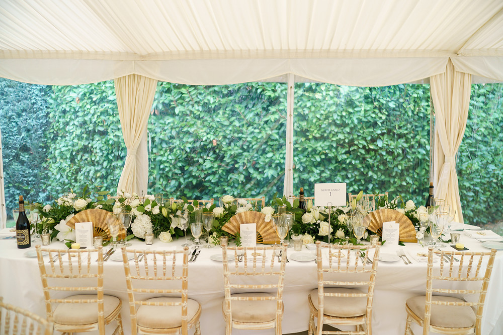 Stylish marquee wedding Uk