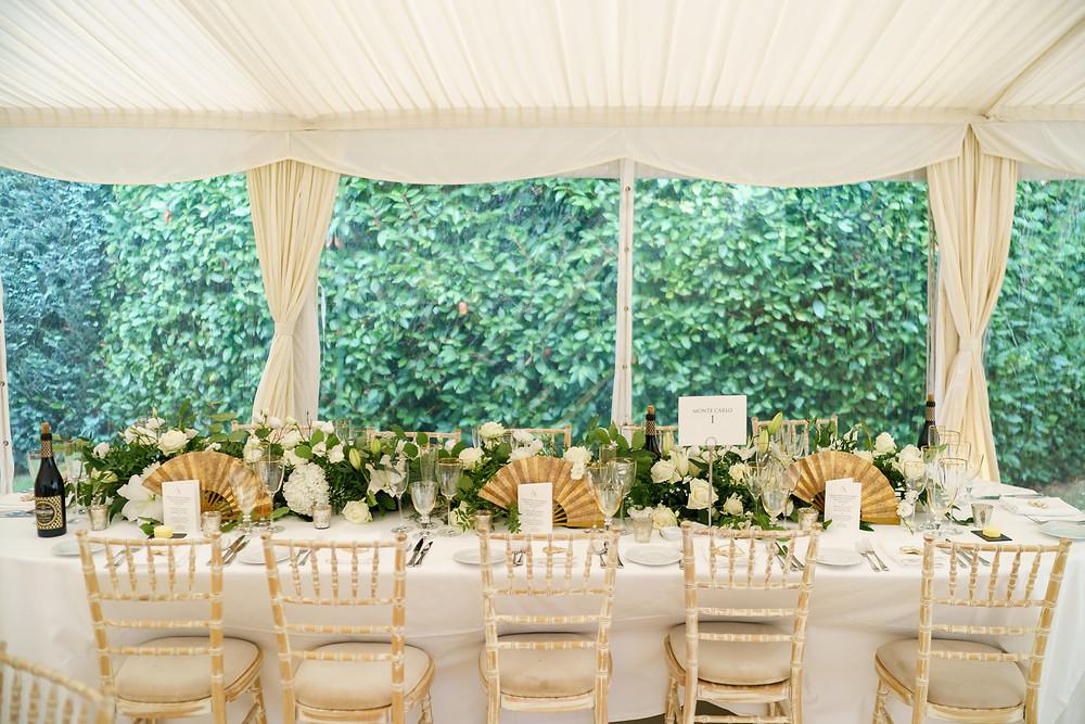 Stylish marquee wedding Uk