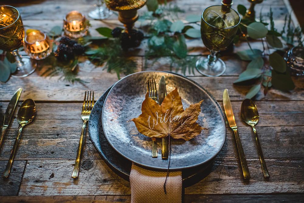 Autumn tablescape | Bluebird Creative | Uk Wedding Planner