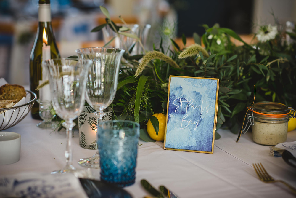 Blue and Gold Wedding | Uk beach Wedding Planners