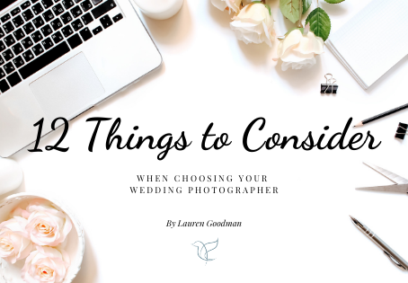 12 Things to consider when choosing your wedding photographer