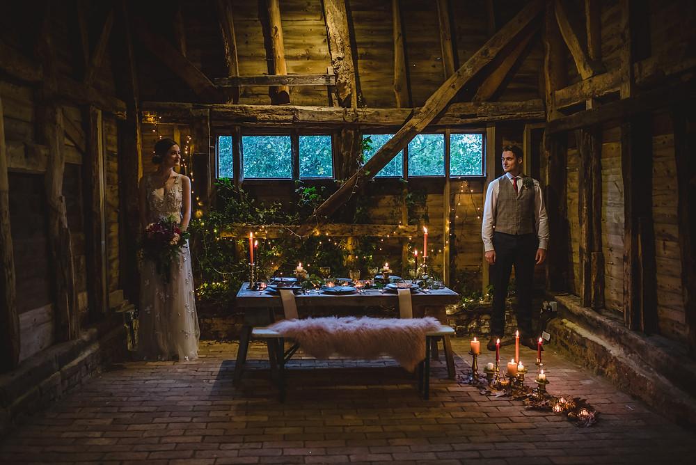 High Billinghurst Barn Wedding Shoot