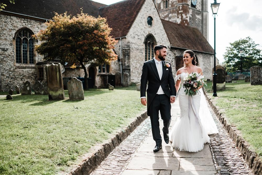 Farnham Church | Uk Wedding | Surrey | London Couple