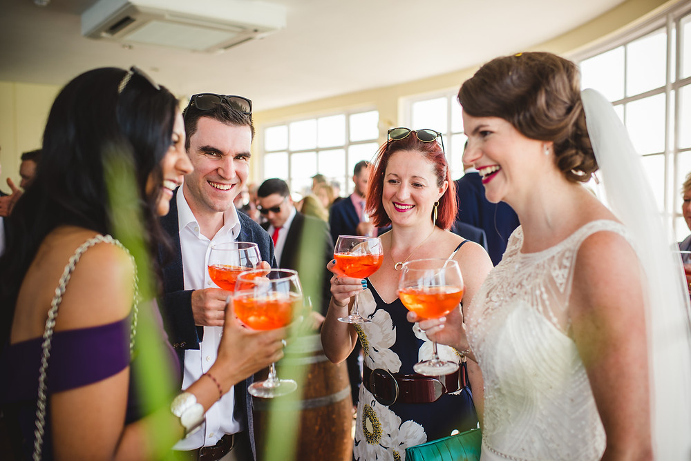 Wedding Drinks Reception | Aperol spritz | Uk Wedding Planning