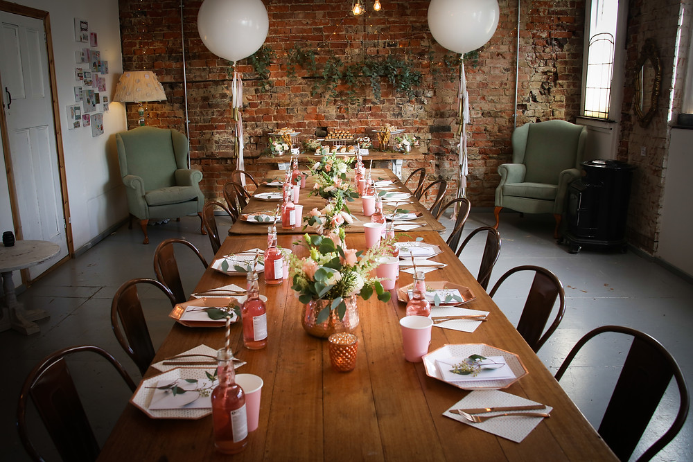 Baby Shower | Girl | Surrey | Copper Trend | Tablescape