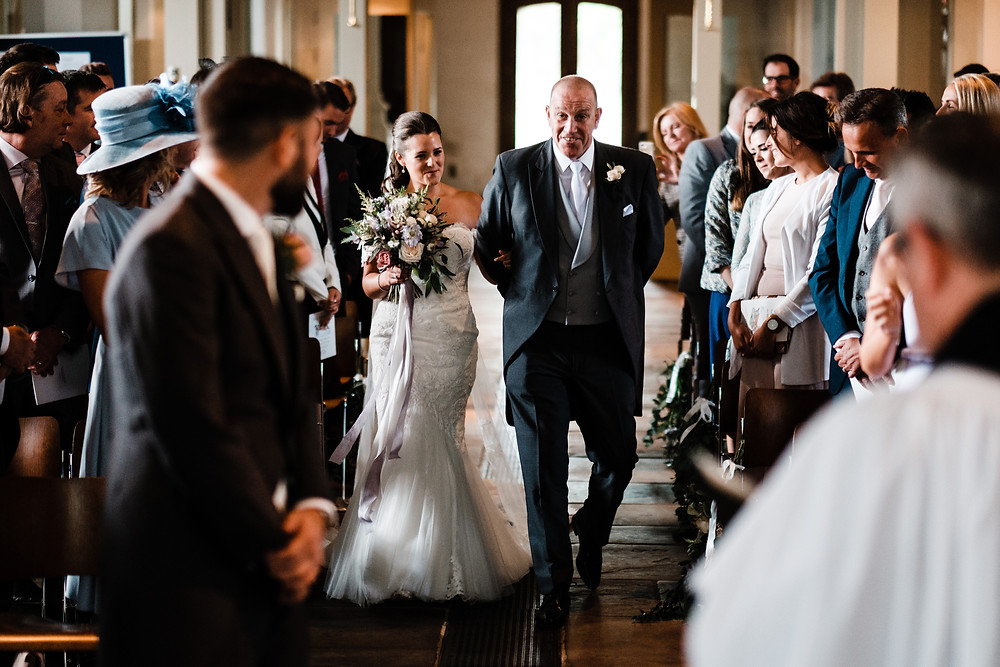 Bride and father of the bride, wedding ceremony