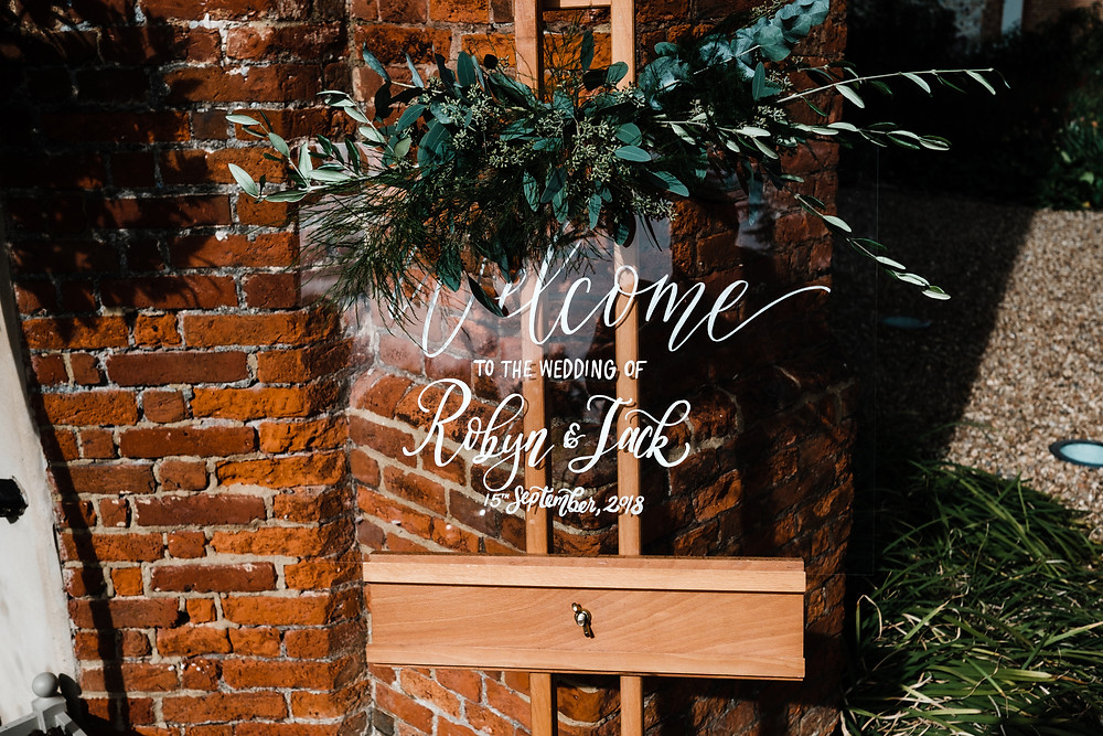 Wedding Reception Welcome Signage | Wedding Planners | Planning in Style